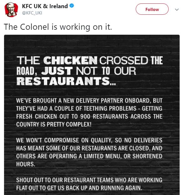 KFC Twitter Response