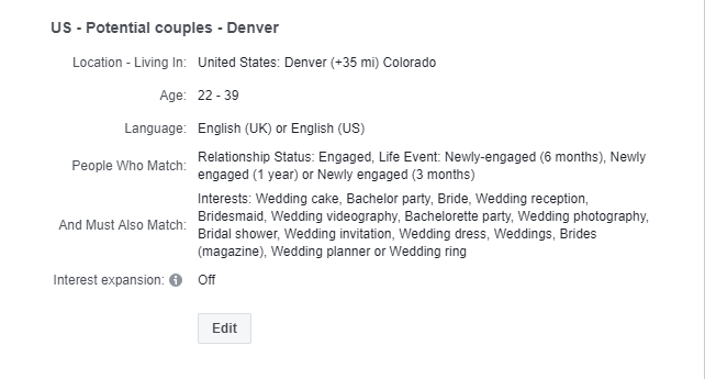 How to Target Engaged Couples?
