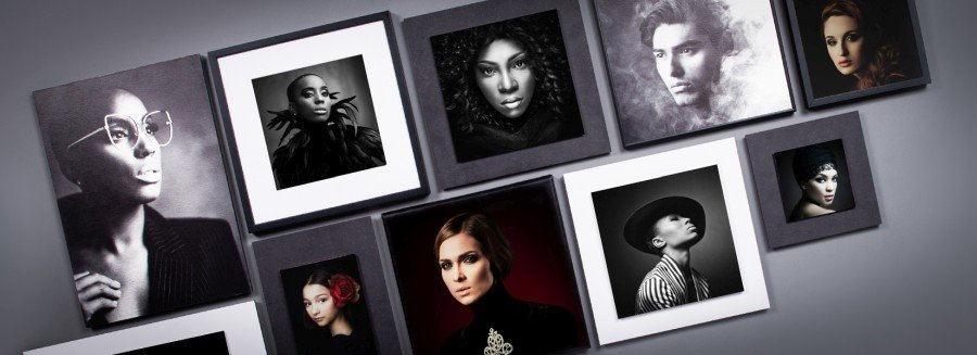 Display of professional photography in Wall Art