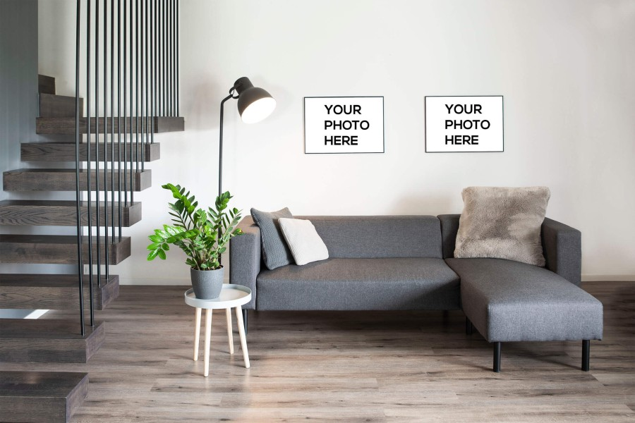 Wall Decor Mockups in Living Room