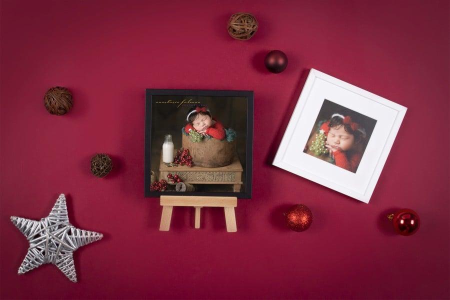 Newborn Christmas in Framed Print