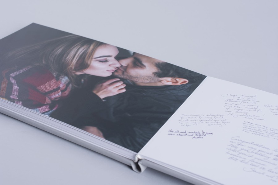 Guest Signing Book with Professional Wedding Images