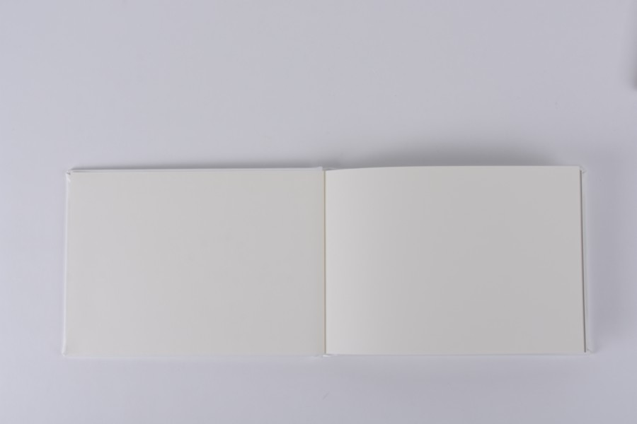 Professional Album with Blank Spreads for Wedding Guest Book Signatures