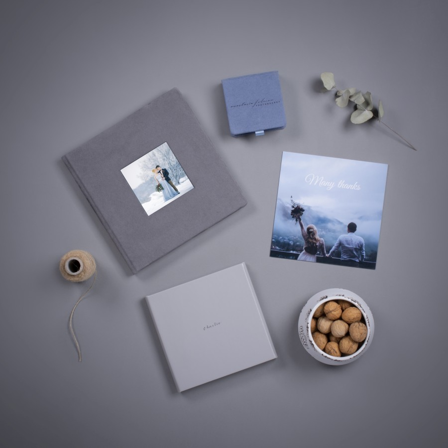 wedding photo product samples by nPhoto - photo album - usb memory box - photo card - mini photo album