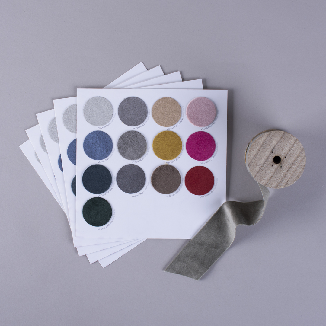 Velvet and Suede Textile for Swatch Book