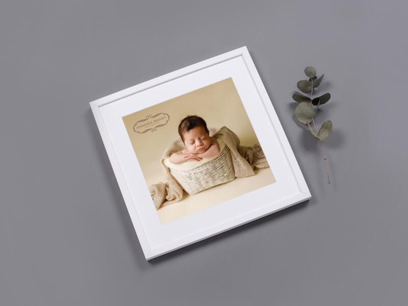 Newborn portrait by Ana Brandt - Framed Print