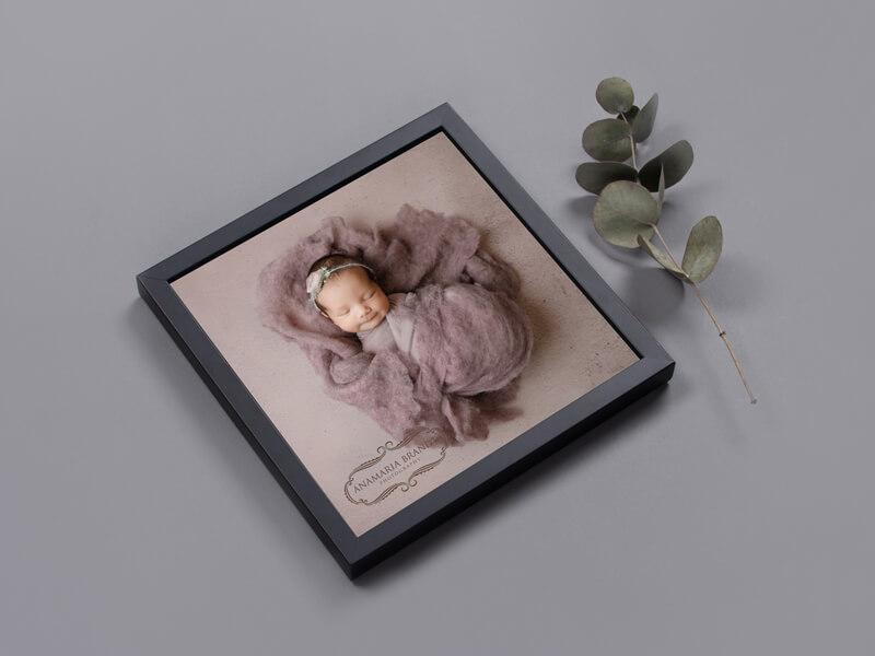 Baby Portrait by Ana Brandt - Framed Print