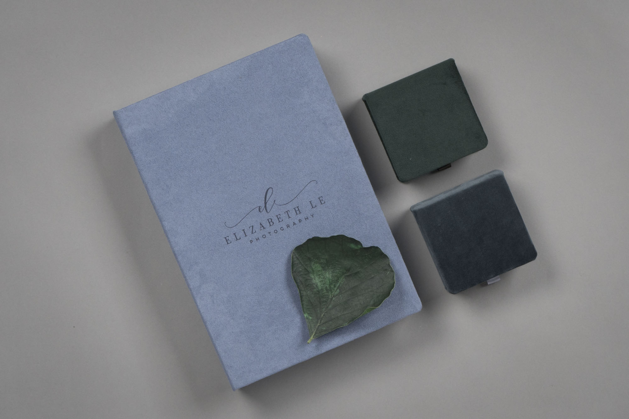 Velvet Folio Box and USBs