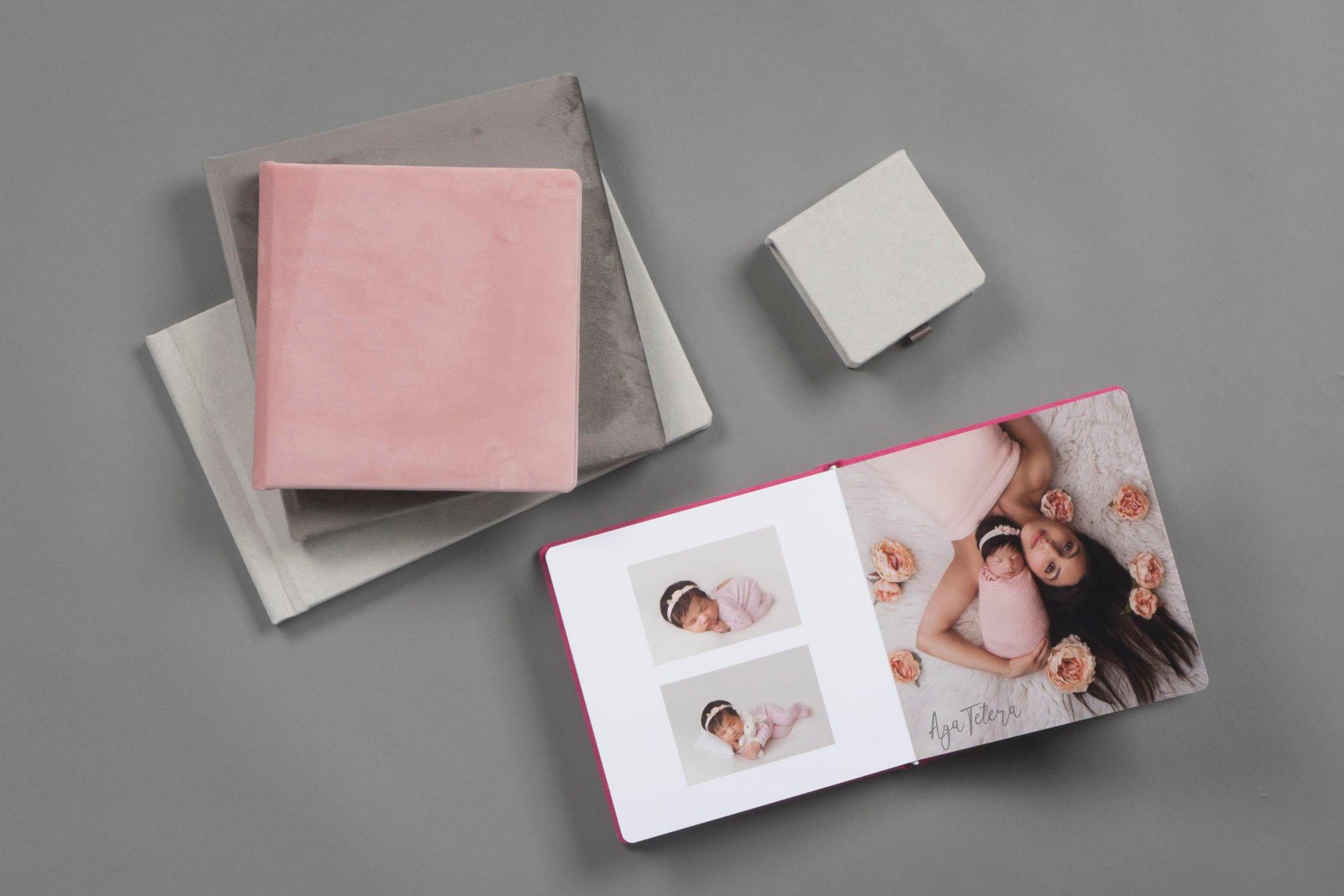 Suede Textile Photo Albums