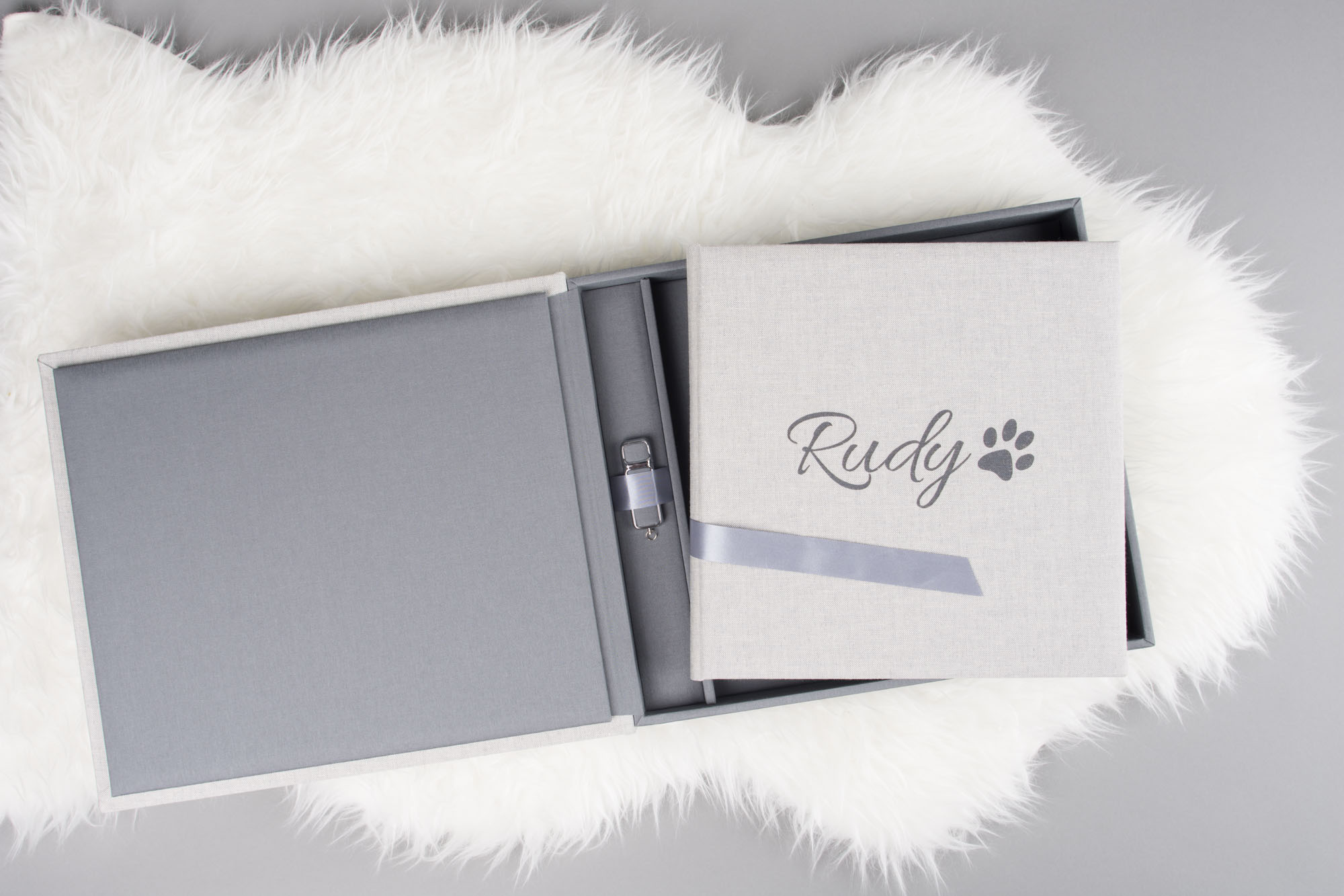 photo album and USB set for dog and equine photographers