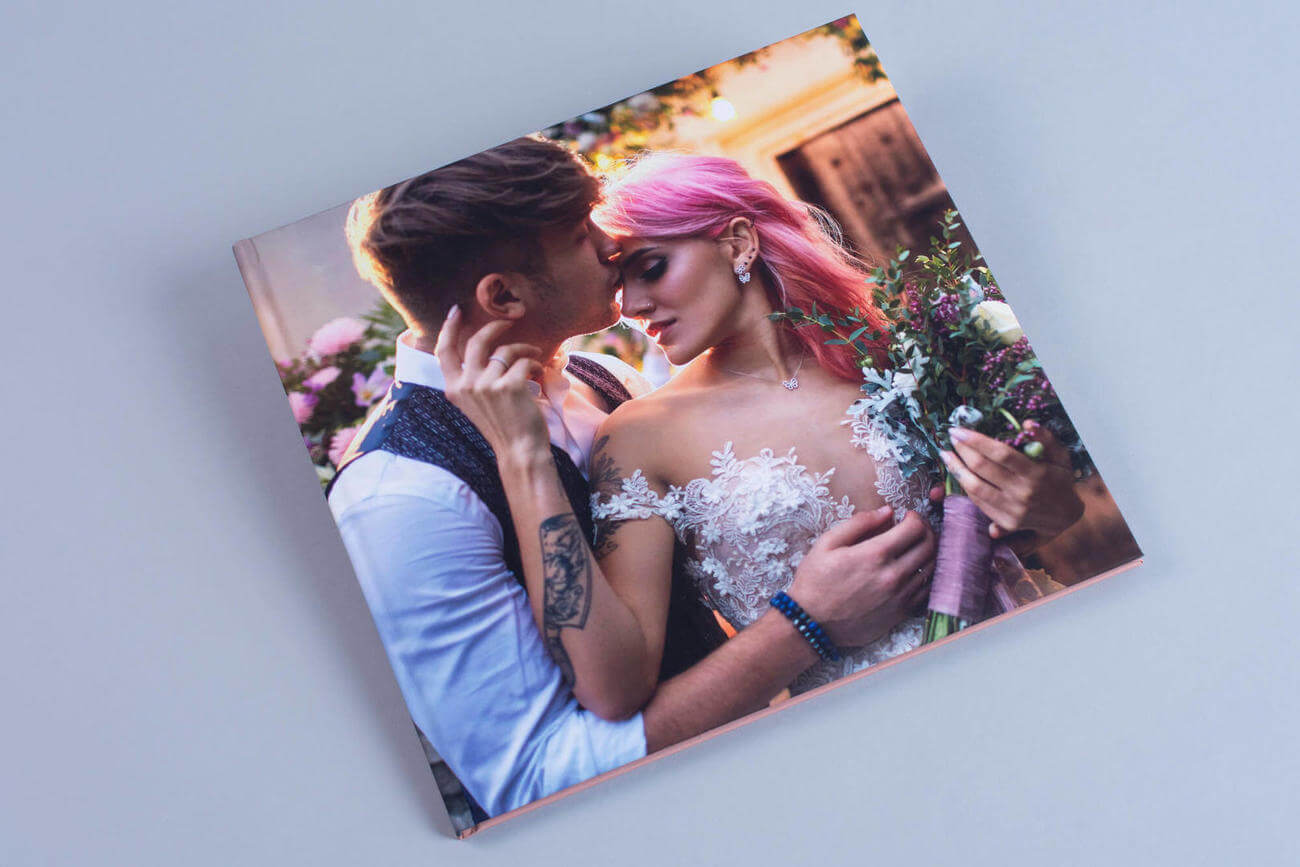 Image wrapped Wedding Photo Book cover