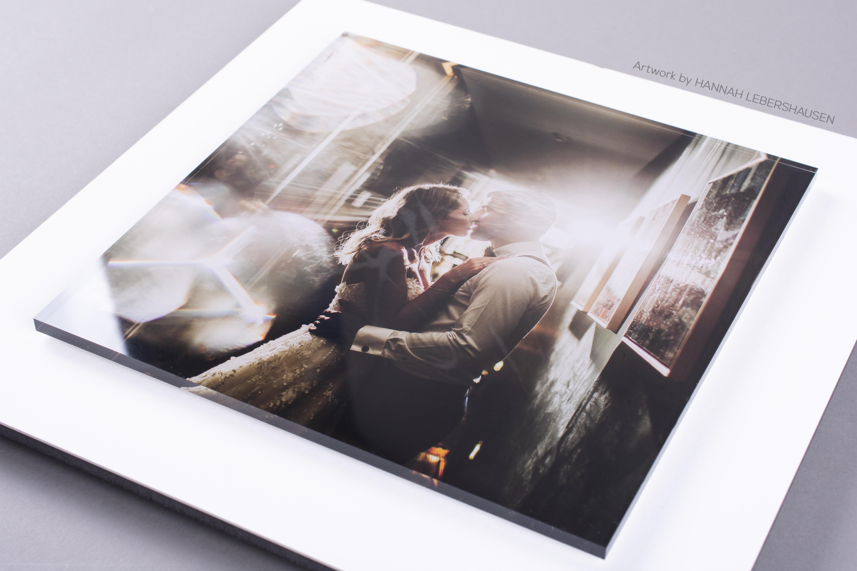 Wedding Couple in Stacked Acrylic Print