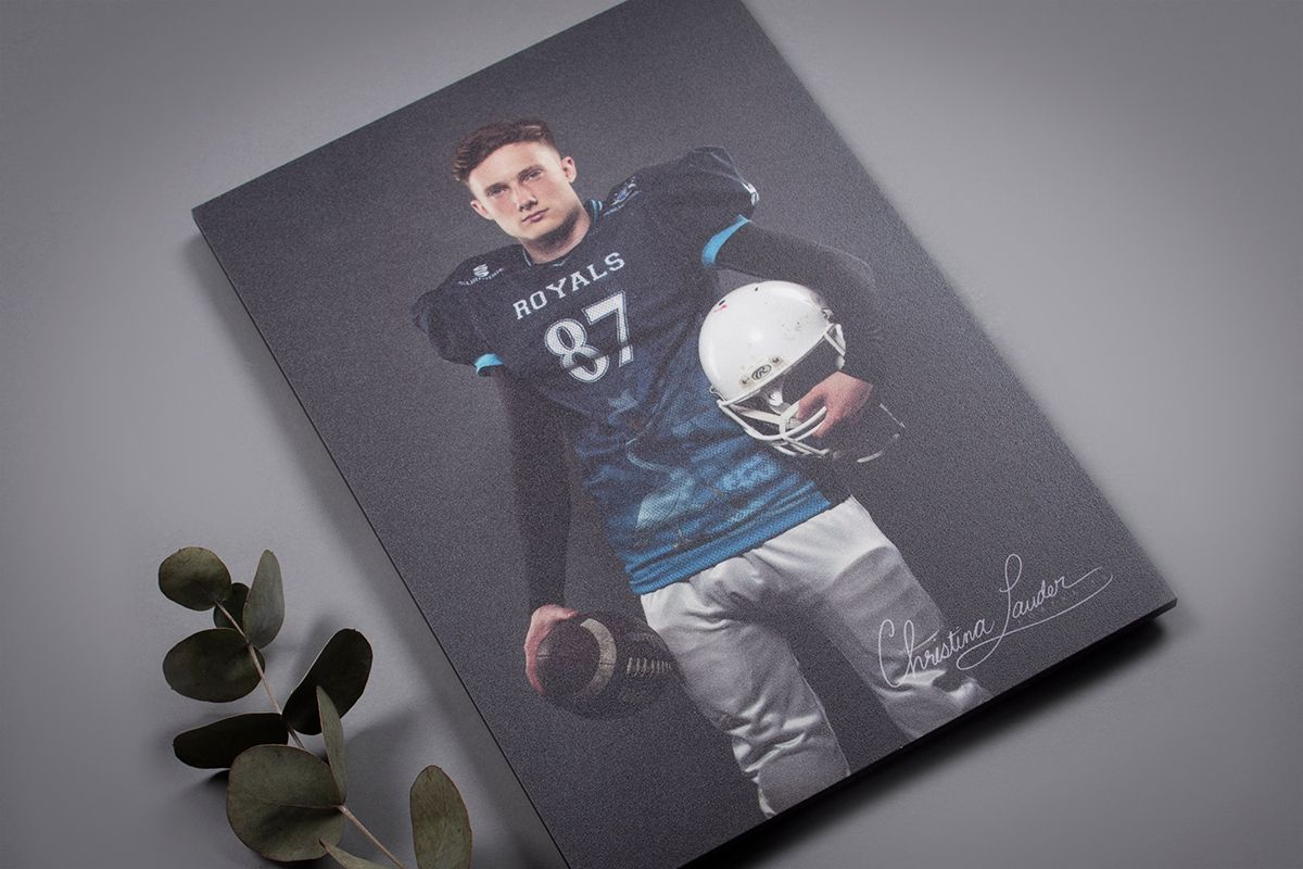 Professional Senior Photography in MDF Mounted Print