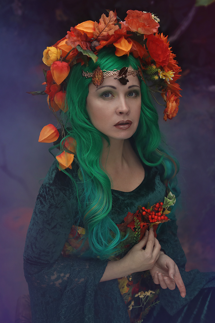 Maria Mirage selfportrait Autumn fairy