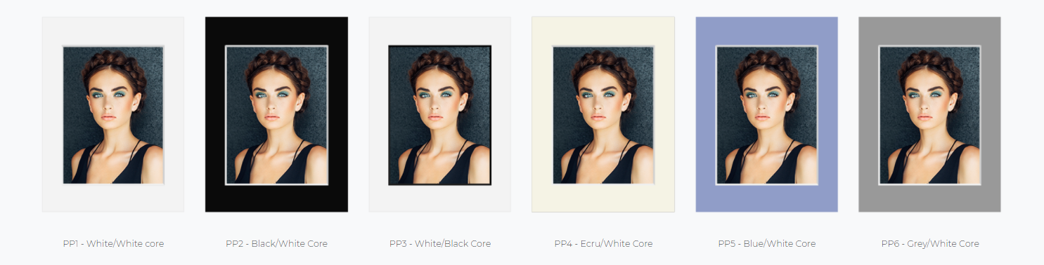 Matted Print Color Options