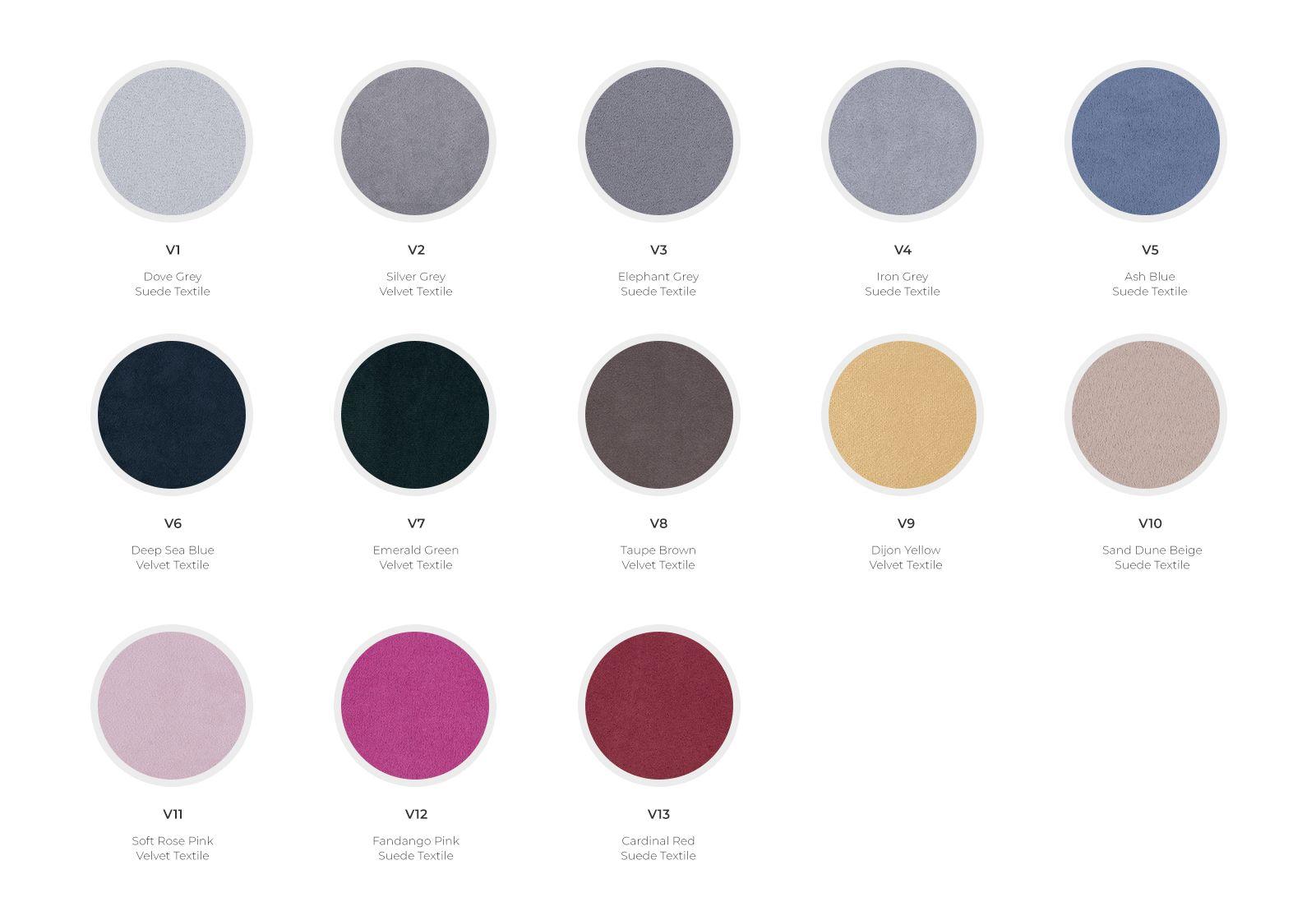 Velvet and Suede Textile Range