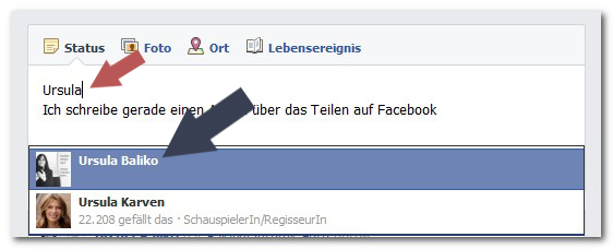facebook markieren