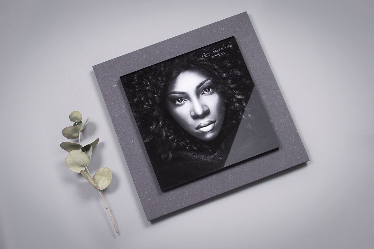 Professional Portrait Photo in a Stacked Acrylic Print