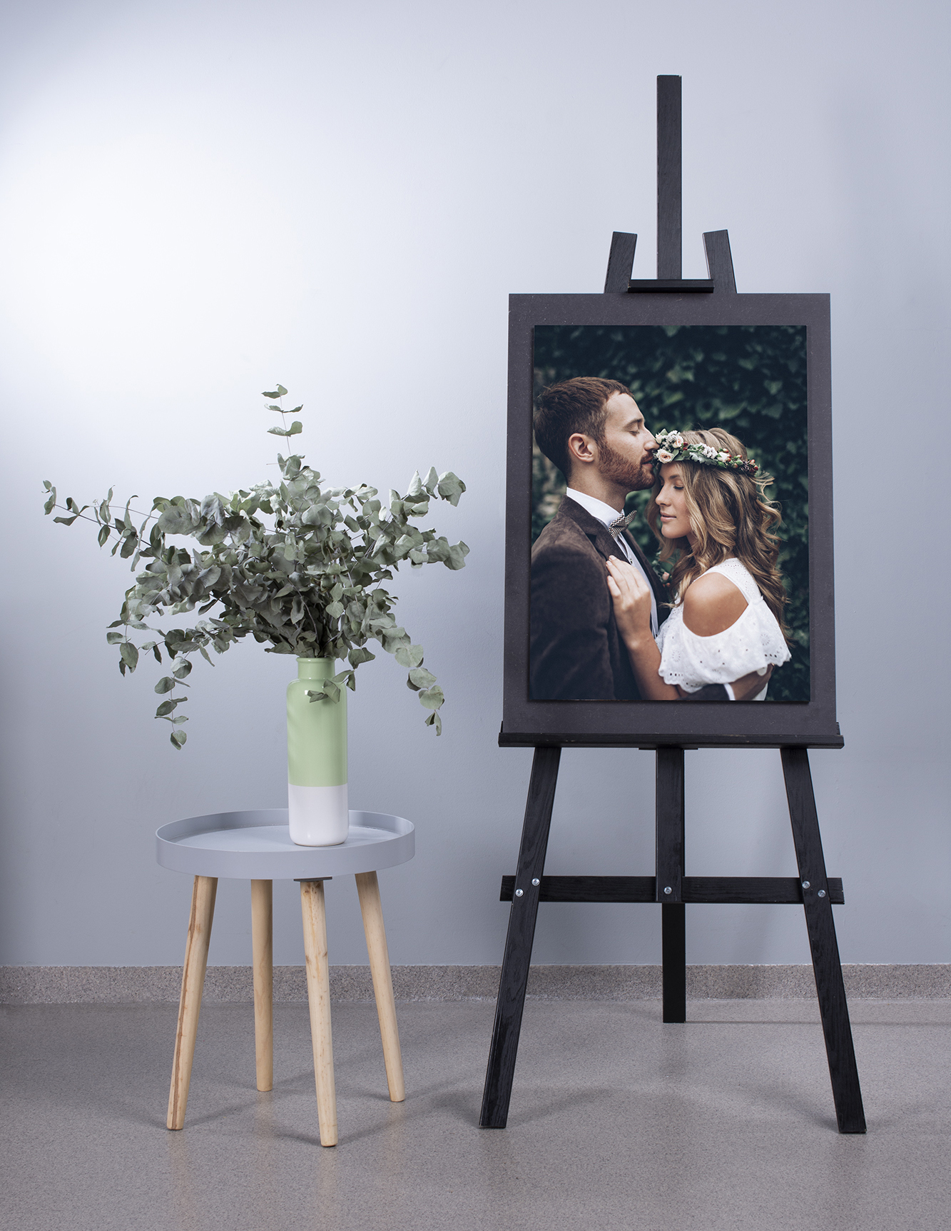 Large Easel Display Stand with Stacked Acrylic Print