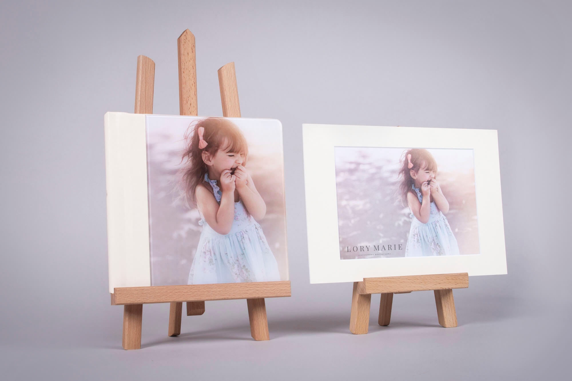 Wooden Easel Display Stand for pro photographers.