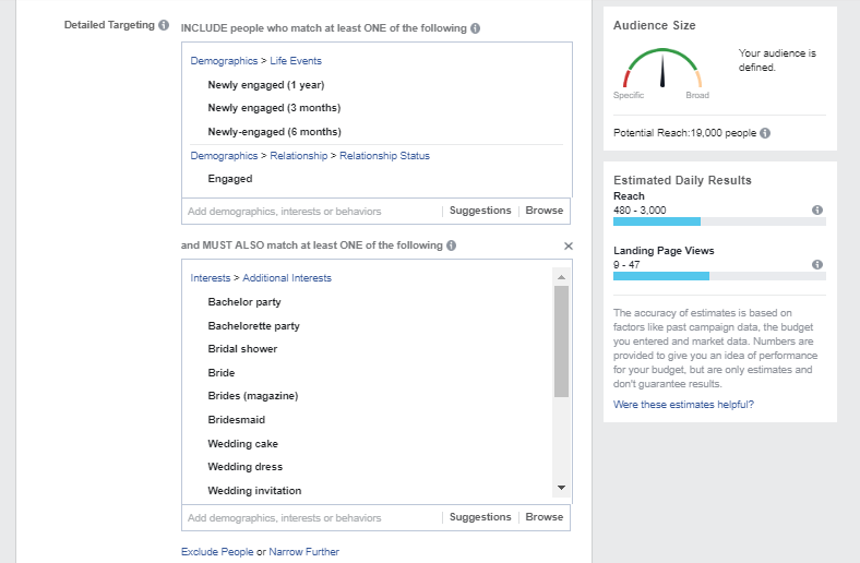 Facebook Ads - Targeting on Engaged