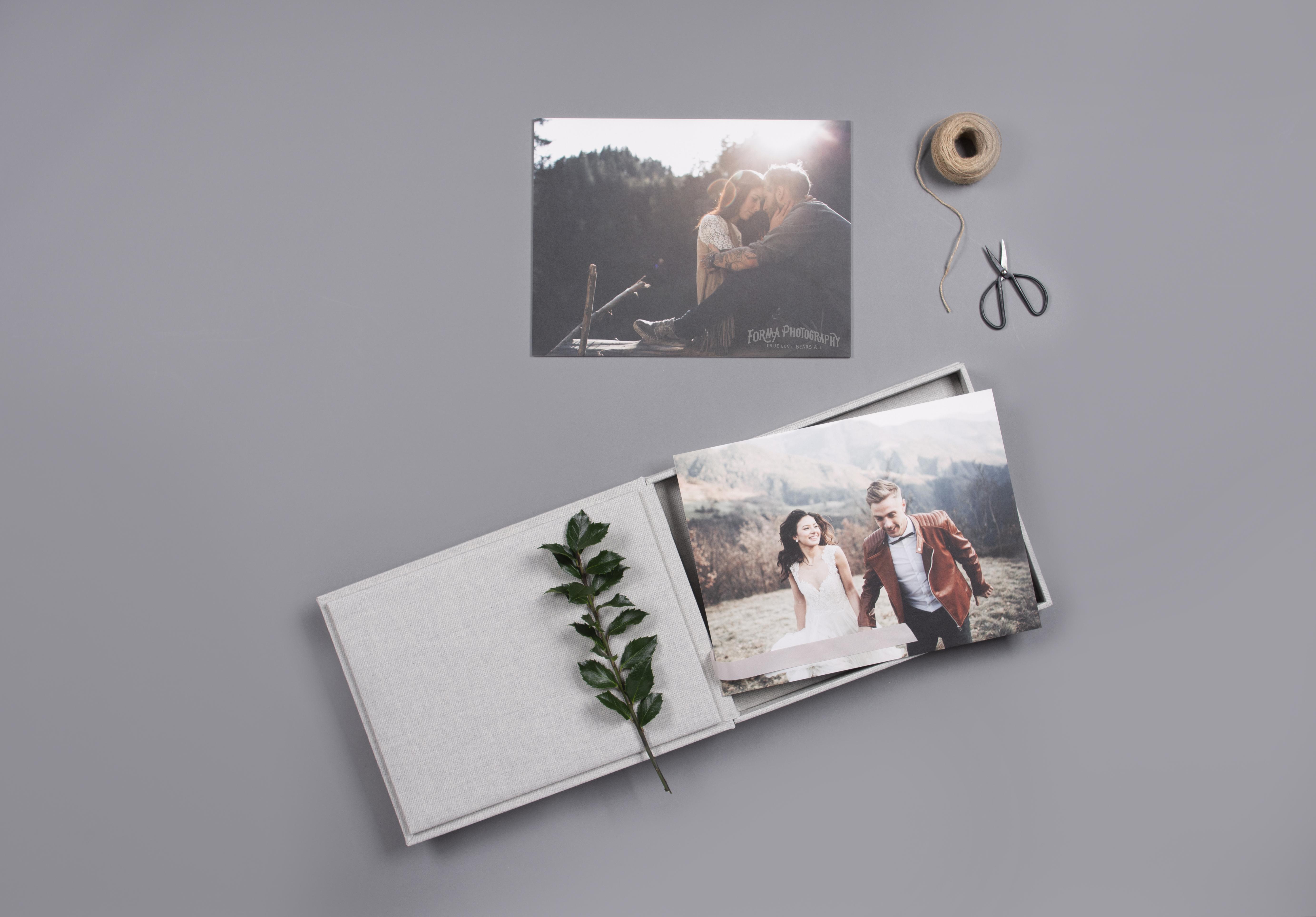 professional wedding print product samples.
