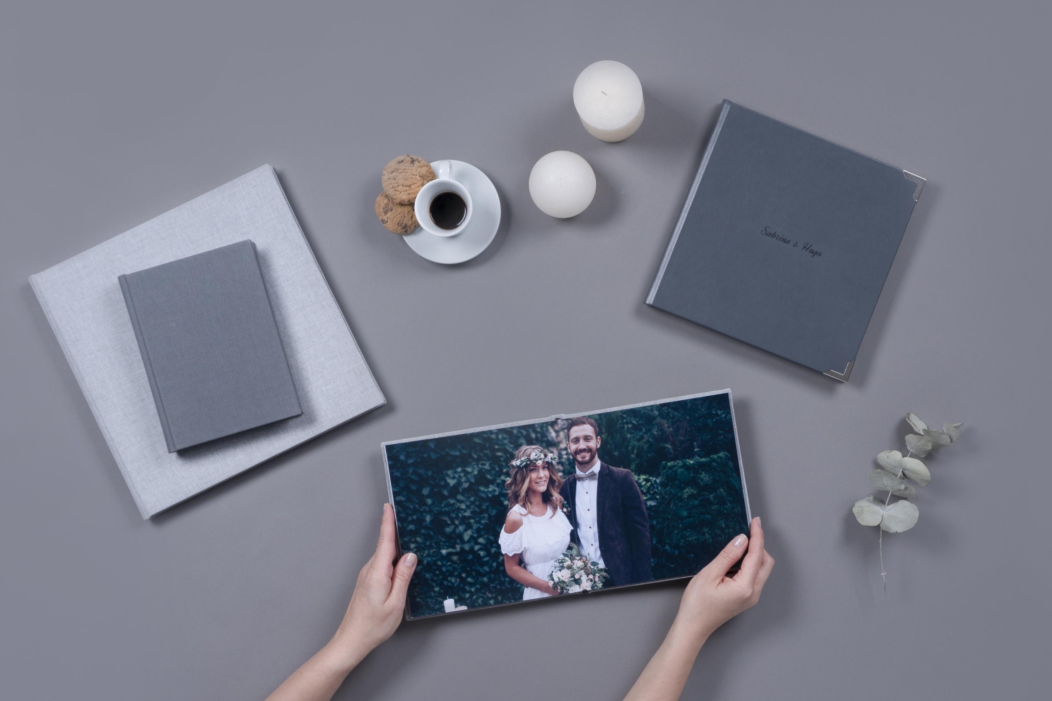Professional Wedding Album on Display
