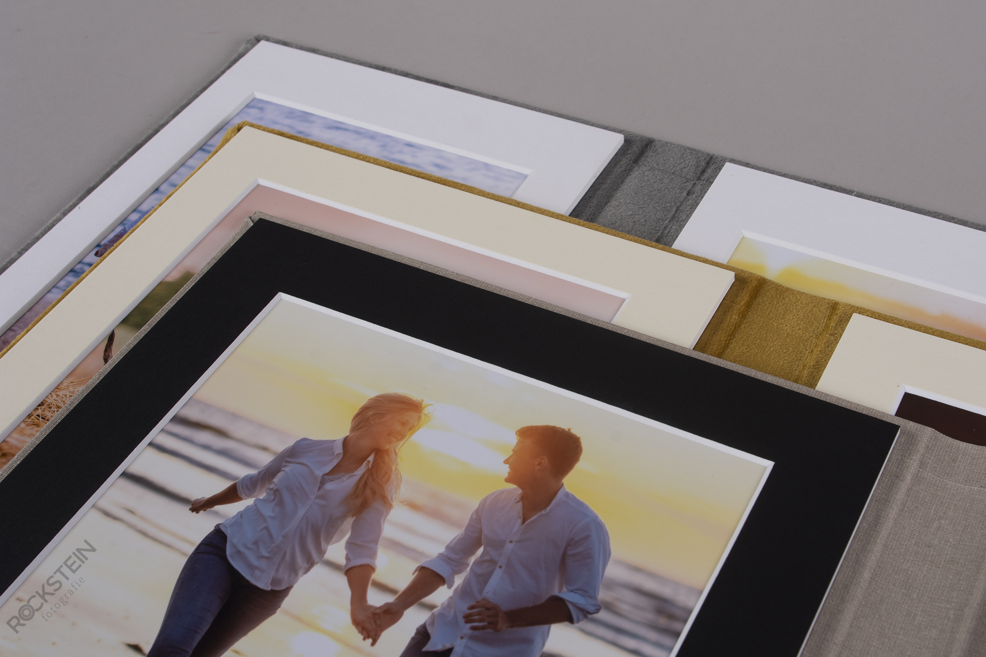 Matted Photos in Trifold display