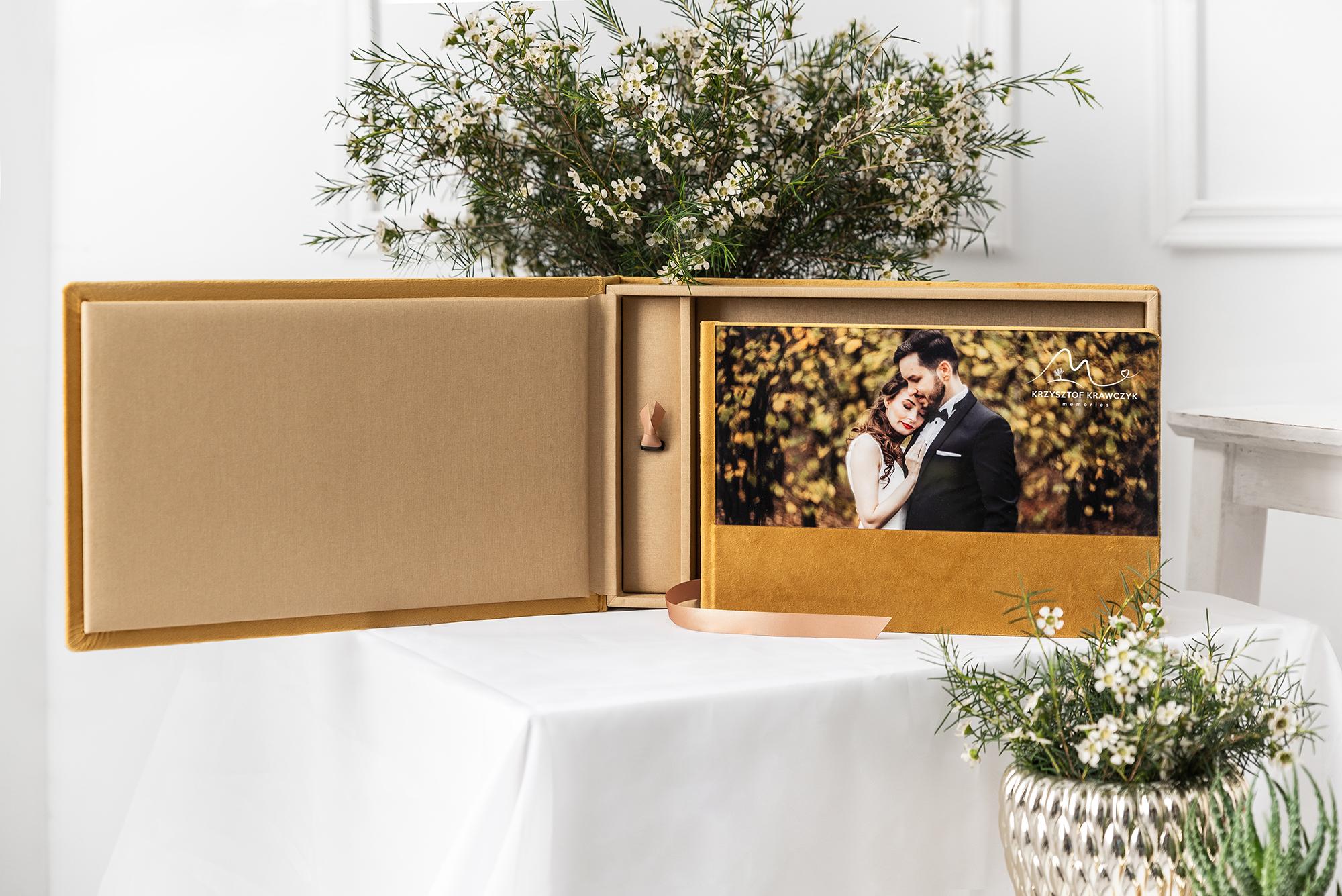 acrylic wedding album with USB