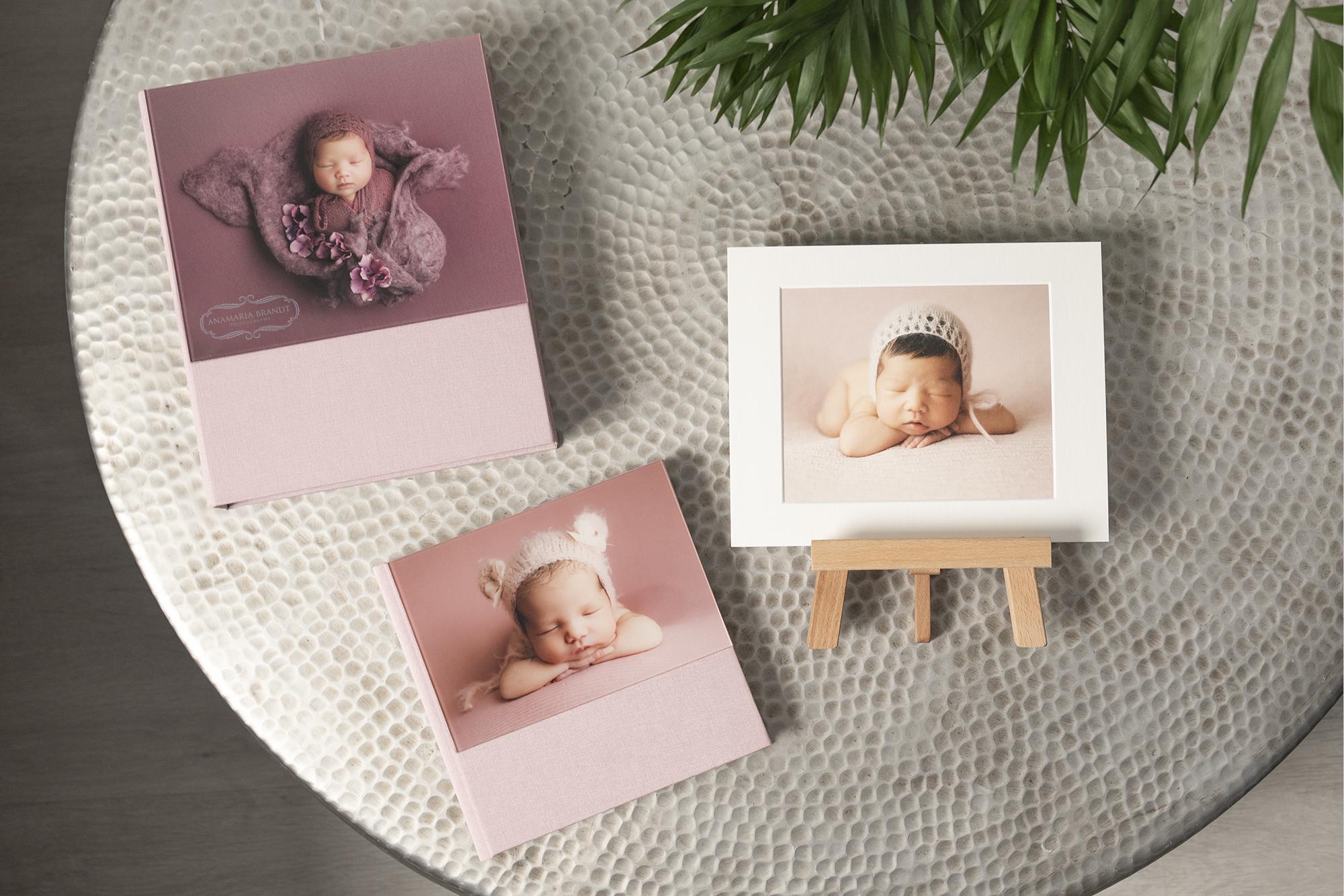professional newborn photography in acrylic prints