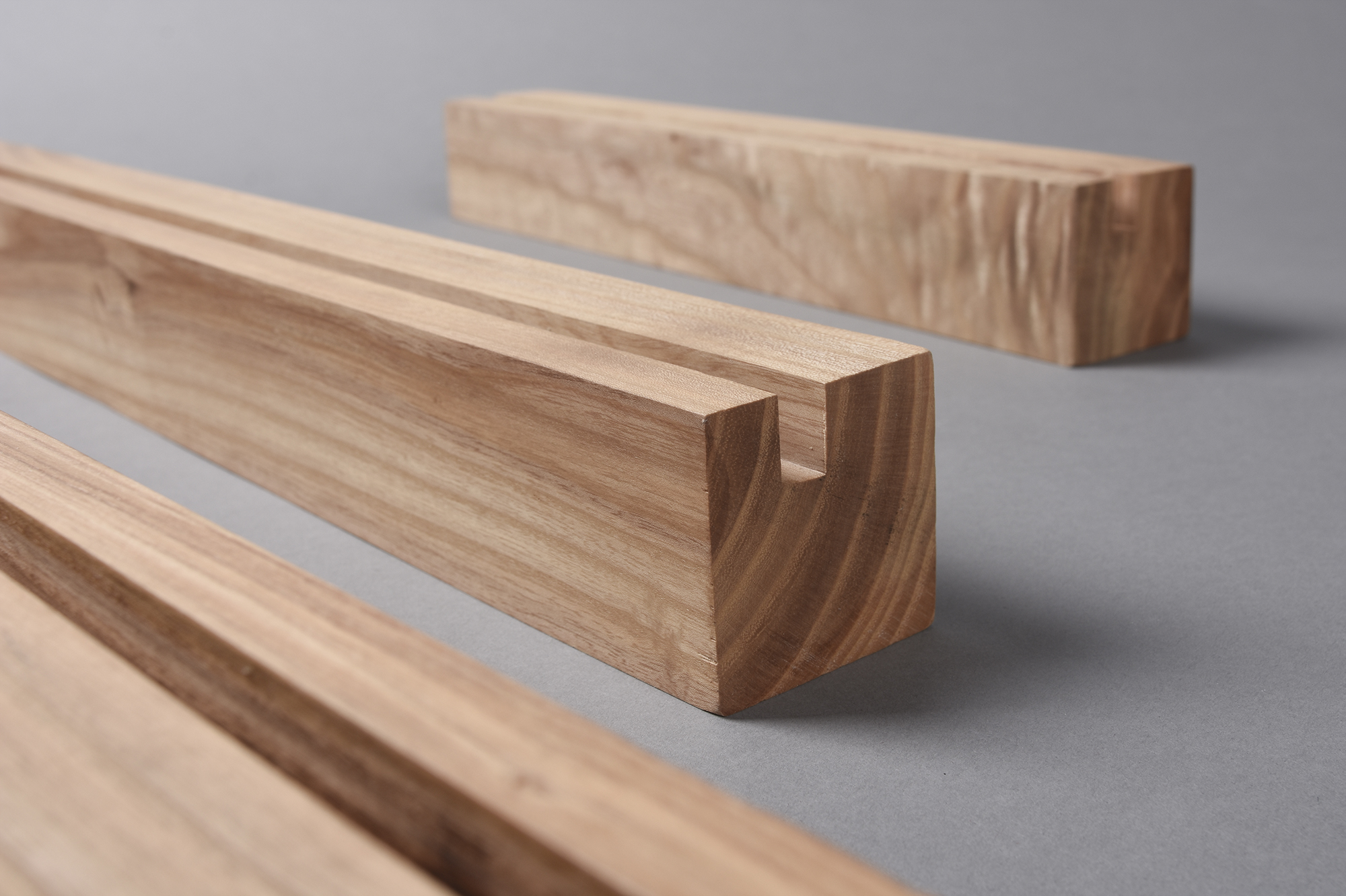 Wooden ledge for professional photography displays