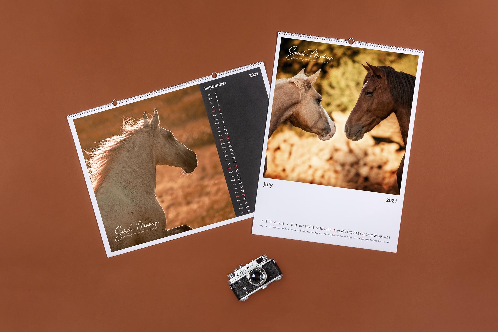 pet prints calendar