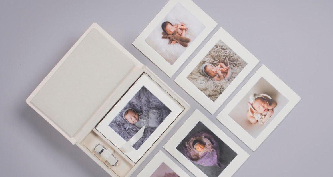 Professional Newborn Photos in Folio Box
