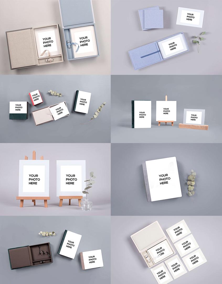 Folio Box Mockups collage from nPhoto